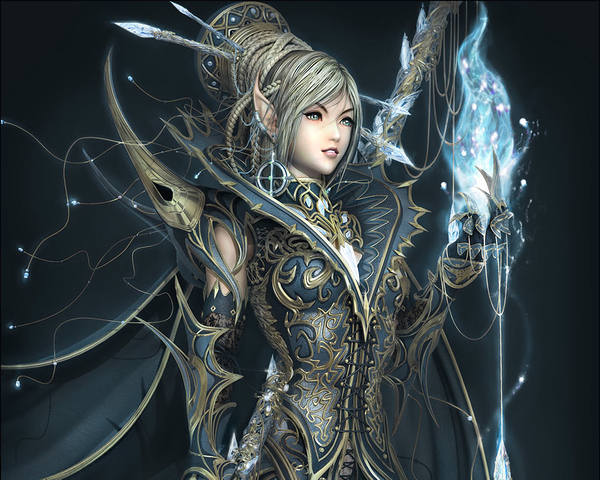 Beautiful_​Fantasy_El​f_Warrior_​Wallpaper