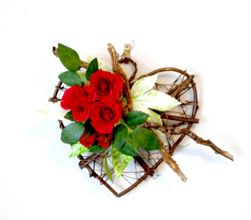 Clipars coeurs - Coeur fleurs artificielles ...