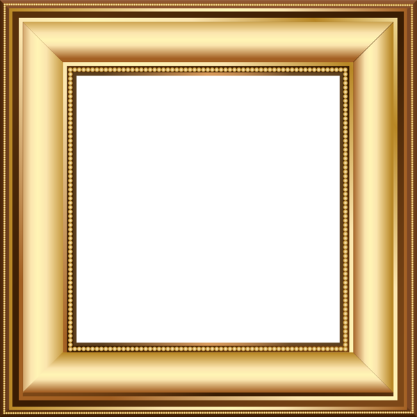 Transparent Gold Frame With Yellow Roses Pictures to pin on Pinterest