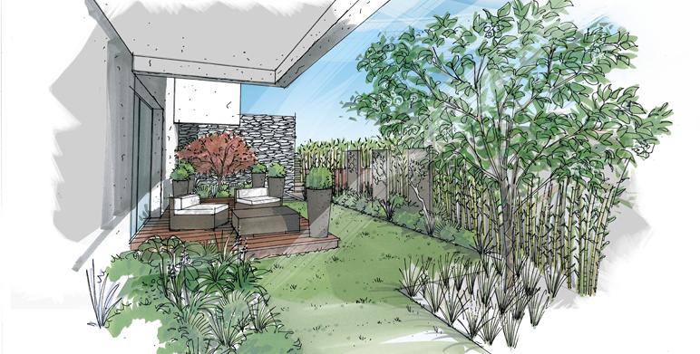 Chez violette page 84 - Dessiner un jardin ...